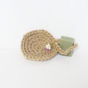 Éponge au crochet en ficelle naturelle