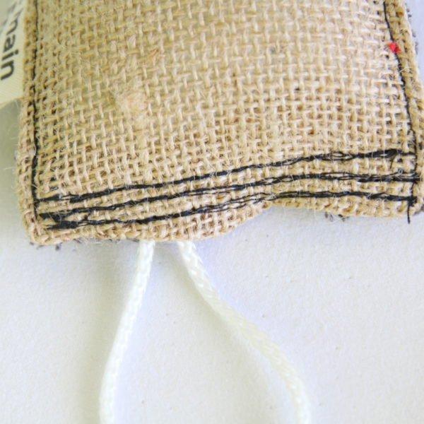 Éponge durable, lavable, zéro déchet, en éponge grise anthracite et toile de jute