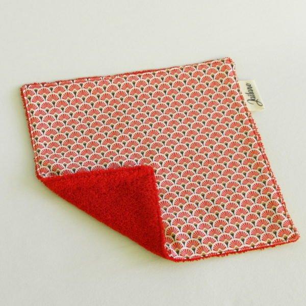 Essuie-tout lavable zéro déchet écailles rouges éponge rouge