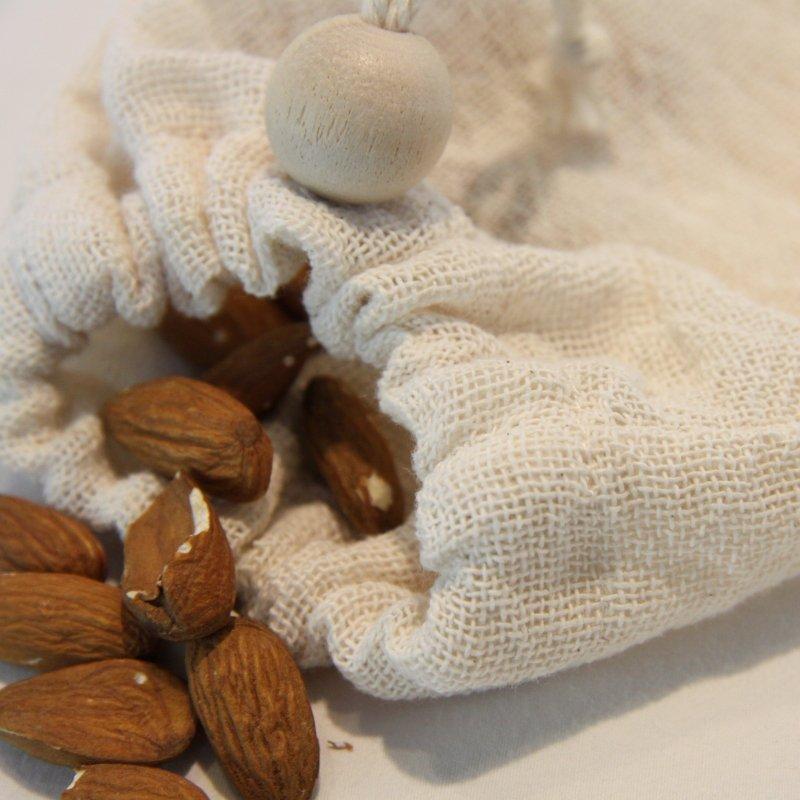 Sac à vrac zéro déchet en étamine de coton certifié contact alimentaire taille M