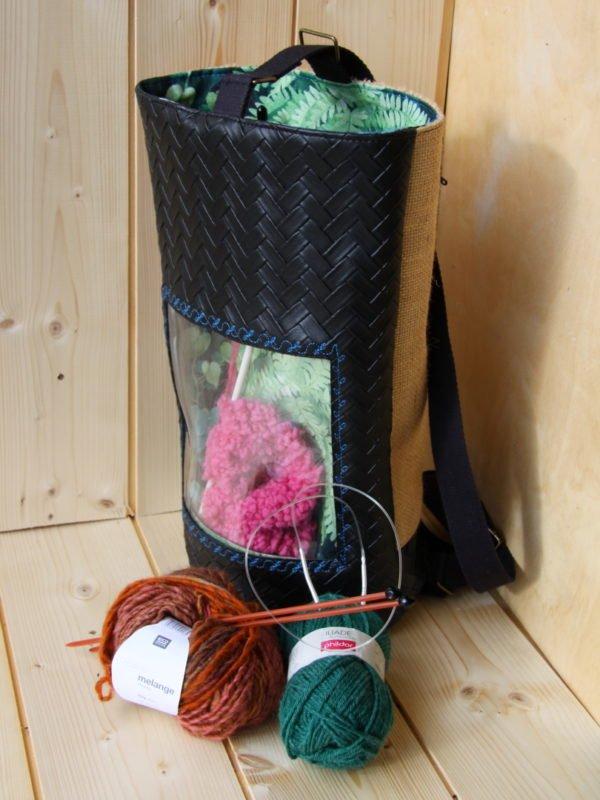 Tricotyne, le sac à ouvrage pratique pour transporter vos aiguilles longues et ouvrages en cours
