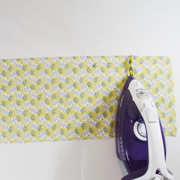 Etape du tutoriel de sac à pain, ouvrir les marge de couture
