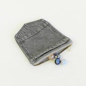 Porte monnaie en poches de jeans upcycling