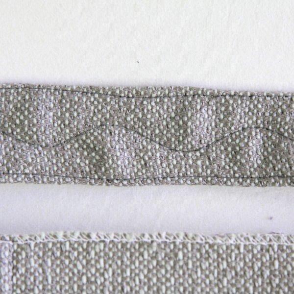 Sac bohème chic en double rideau recyclé, détail de broderie de la anse