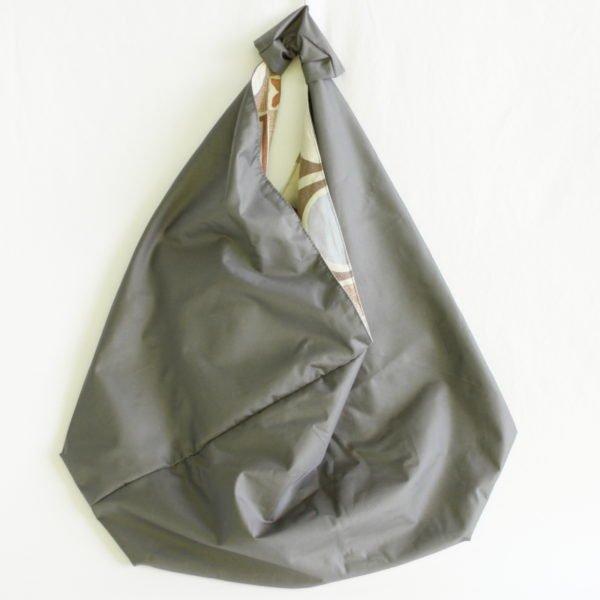 Sac origami-imperméable, extérieur gris