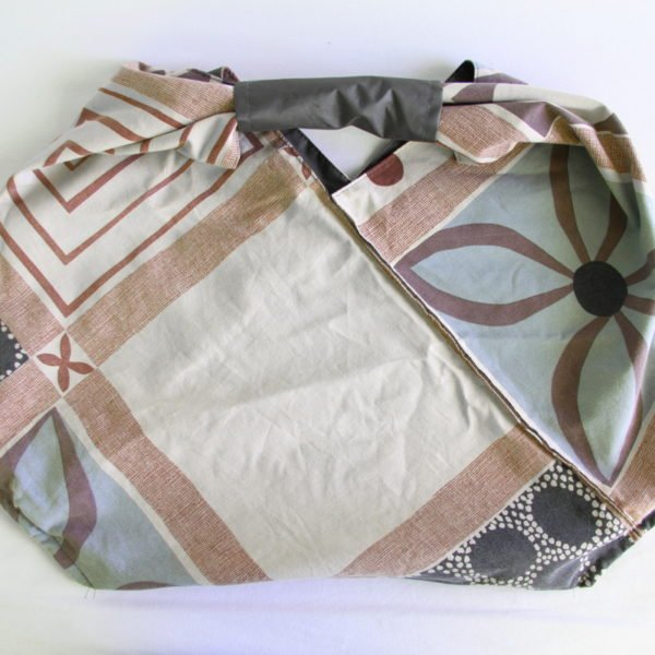 SAc origami réversible gris et marron
