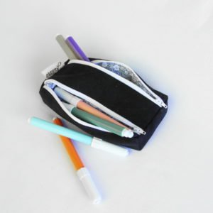 Trousse rectangle double zip