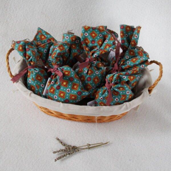 Sachets de lavande séchées de la Drôme en tissu recyclé