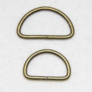 Boucle D en métal pour création de sacs