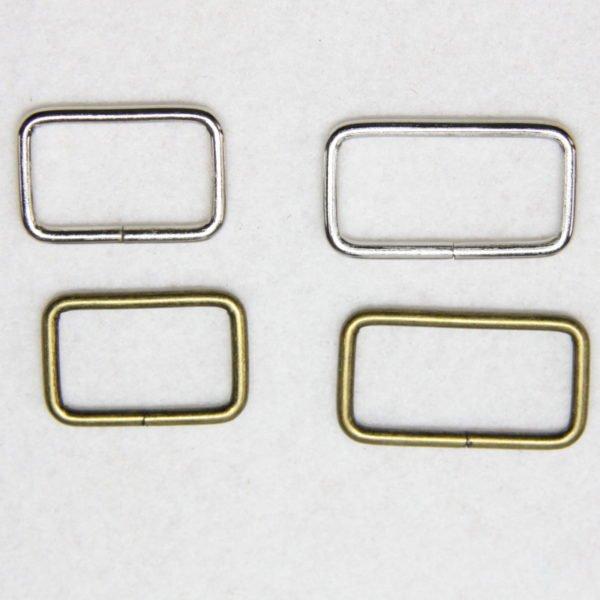 Boucles rectangulaires en métal