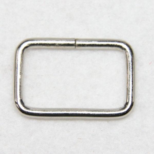 Boucle rectangulaire en métal de couleur argent en 25 mm de large