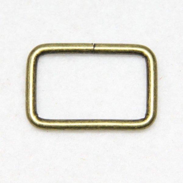 Boucle rectangulaire en métal de couleur bronze en 25 mm de large