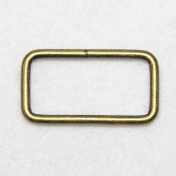 Boucle rectangulaire en métal de couleur bronze en 32 mm de large