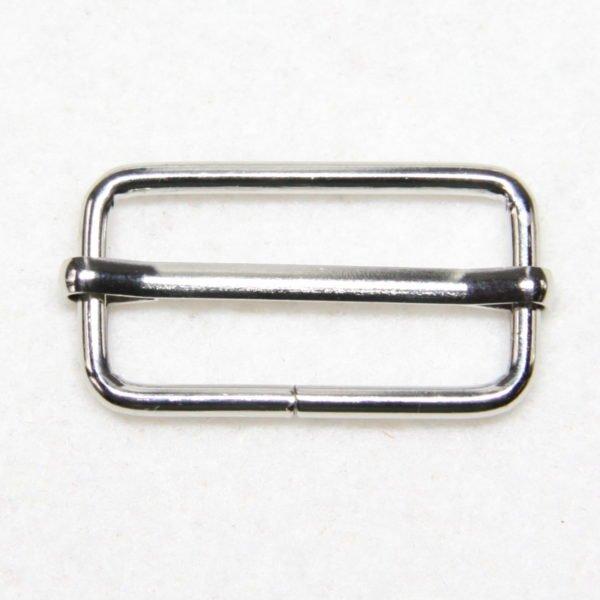Boucle de réglage en métal de couleur argent 32 mm de large
