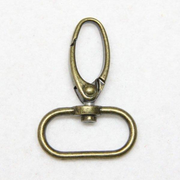 Mousqueton en métal de couleur bronze 25 mm
