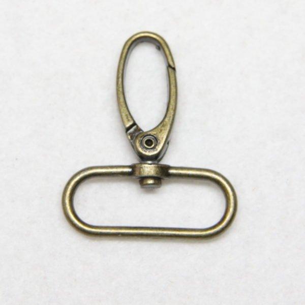 Mousqueton en métal de couleur bronze 32 mm