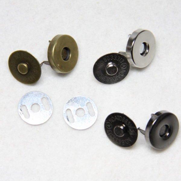Pressions aimantées 18 mm pour confection de sacs