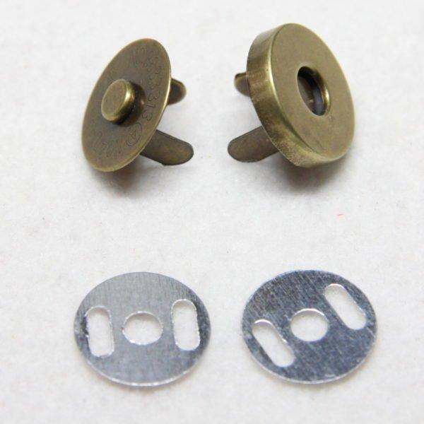 Pression aimantée de métal de couleur bronze 18 mm
