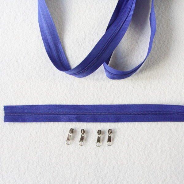 Zip, fermeture éclair, fermeture à glissière #3 bleu roi au mètre