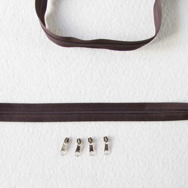Zip, fermeture éclair, fermeture à glissière #3 chocolat au mètre