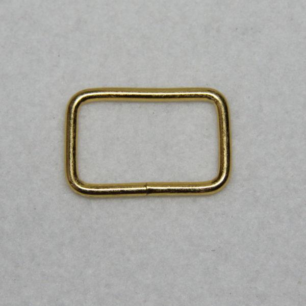 Boucle rectangle en métal de couleur gold / or en 25 mm de large