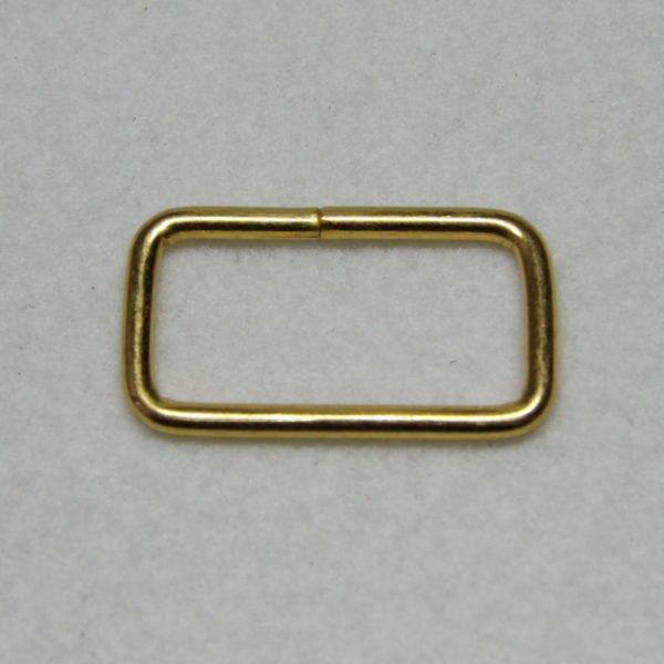 Boucle rectangle en métal de couleur gold / or en 32 mm de large