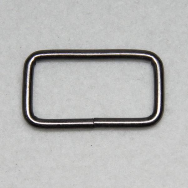 Boucle rectangle en métal de couleur noir patiné en 32 mm de large