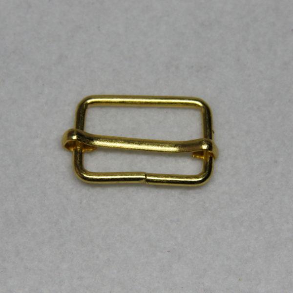 Boucle de réglage en métal de couleur gold / or en 25 mm de large