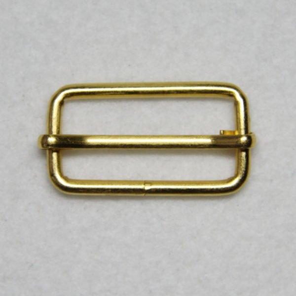 Boucle de réglage en métal de couleur gold / or en 32 mm de large