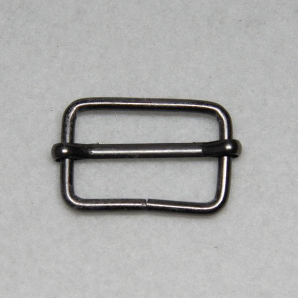 Boucle de réglage en métal de couleur noir patiné en 25 mm de large