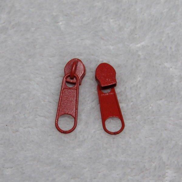 Curseur #3 métallique couleur rouge