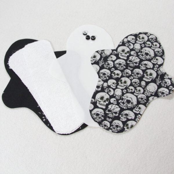 Kit prêt à coudre pour protection féminine, serviette hygiénique flux normal coloris noir