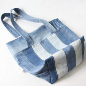 Sac cabas M upcycling patchwork jeans